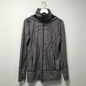 Lululemon Scuba Hoodie Jacket in Gray & Black 10